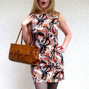 Me-Made Psychedelic 60's Style Dress (M)